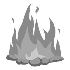 Bonfire icon monochrome. Singe western icon from the wild west monochrome.