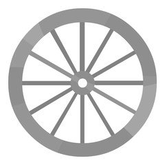 Cart-wheel icon monochrome. Singe western icon from the wild west monochrome.