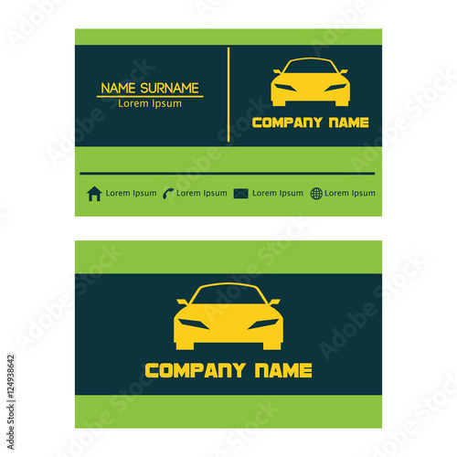 Business card design template for car automotive and transport business card design template for car automotive and transport business wajeb Images