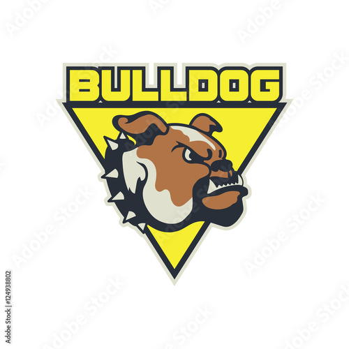 Modern Sport Logo For Team Bulldog Mascot Logo Template Stock - Free modern logo templates