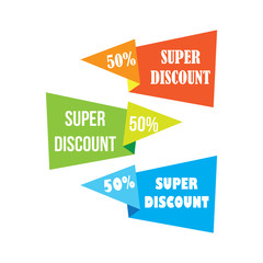 colors discount labels and banners