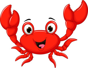 funny cartoon crab for you design
