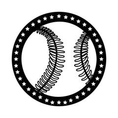 sober baseball emblem or label icon image vector illustration design