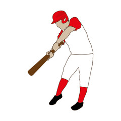 baseball player icon image vector illustration design