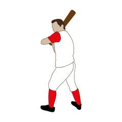 baseball player icon image vector illustration design