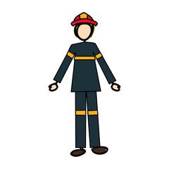 firefighter cartoon icon image vector illustration design