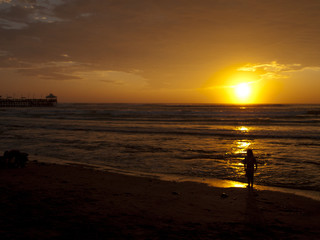 The beach of  Huanchaco