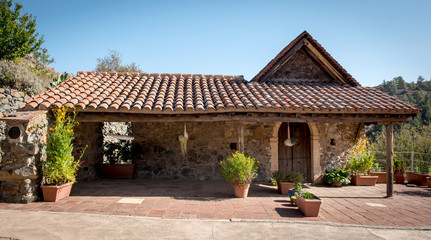 Traditional old house exterior