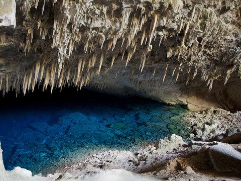 Blue cave at Bonito, Brazil