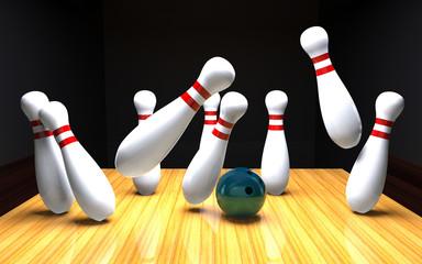 Bowling, Kegel umstoßen
