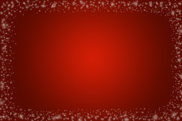 White snowflakes on an abstract red background