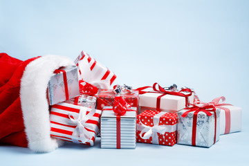Bag of Santa Claus with gifts