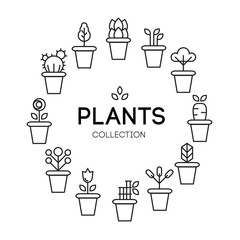 icons of pot plants garden