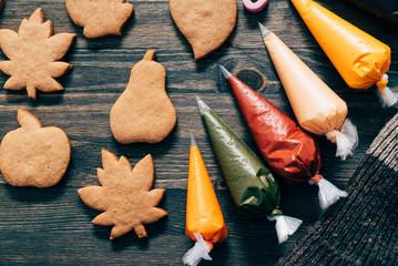 Türaufkleber Kekse autumn cookies