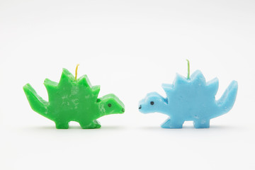Funny Souvenir gift candles in the shape of multicolored dragons
