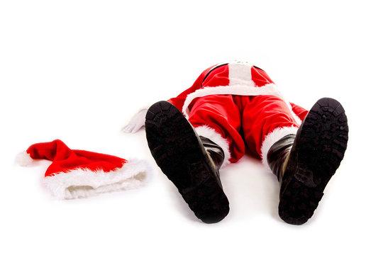 Nikolaus / Weihnachtsmann mit Burnout – fix und fertig