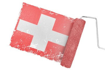 Composite image of switzerland national flag