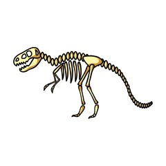 Tyrannosaurus rex icon in cartoon style isolated on white background. Museum symbol stock vector illustration.