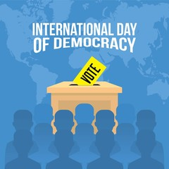 vector illustration for International Day of Democracy