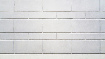 Texture, old vintage white brick wall Background