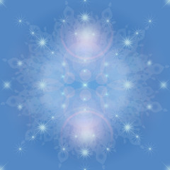 光と星と雪のイメージ