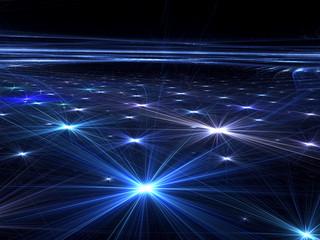 Abstract stars floor - digitally generated image
