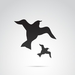 Bird vector icon.
