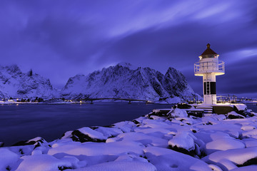 Lighthouse at Reine Lofoten Norway