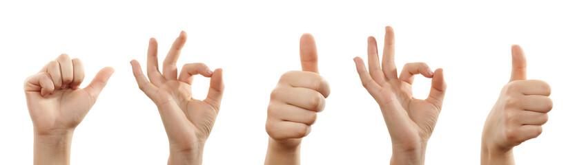 Hände mit zustimmender Geste