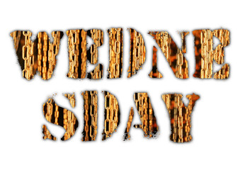 Wednesday word from grunge letters