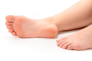 Füße einer jungen Frau