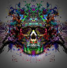 череп на красочные абстрактного фона