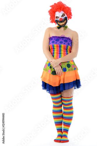 grusel clown mit maske zu halloween karneval fasching oder fastnacht stockfotos und. Black Bedroom Furniture Sets. Home Design Ideas