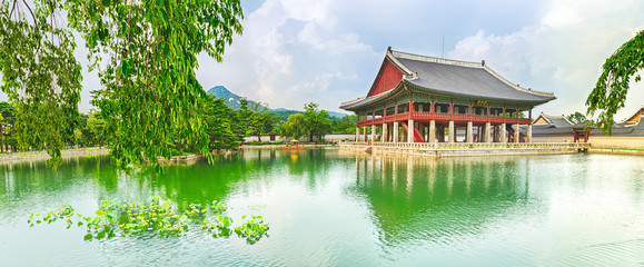 Gyeongbokgung Palace. South Korea. Panorama