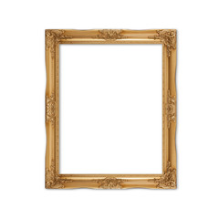 picture frame on Old wood wall background.