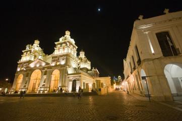 Cordoba Cathedral at night