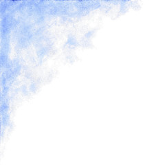 Baby blue watercolor abstract background