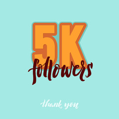 Vector thanks design template for network friends and followers. Thank you card. Image Social Networks. Web user celebrates a large number of subscribers.