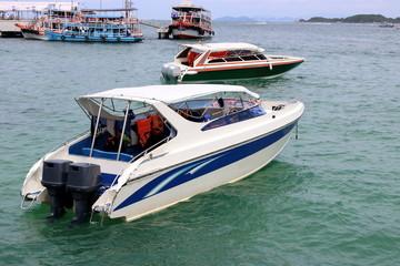 Speed boats in the sea ,motor boat