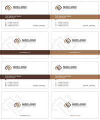 business cards house and square meter brown and beige colors