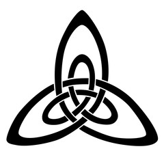 Celtic knot stencils for tattoo or another design. Vector.