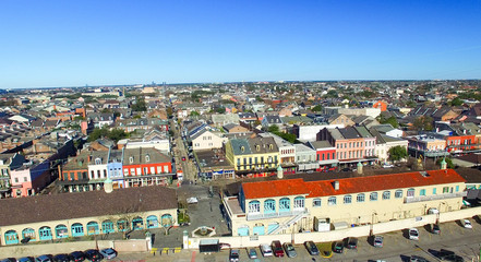 Wall Mural - Aerial view of New Orleans on a sunny morning, Louisiana