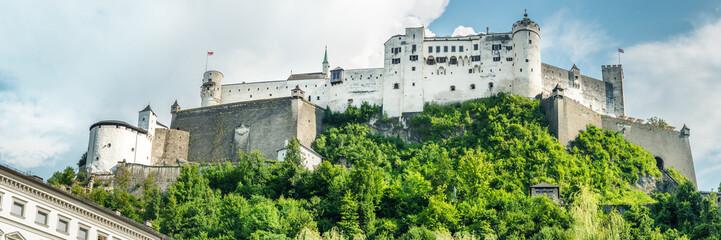 Fototapete - Panorma of Salzburg, Austria