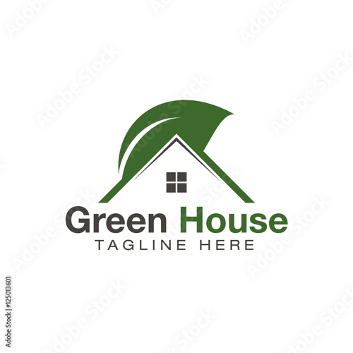 Green House logo design vectoru0026quot; Stock image and royalty-free vector ...