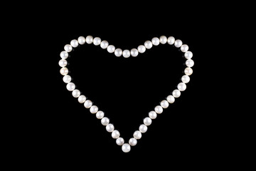 Heart of pearl beads