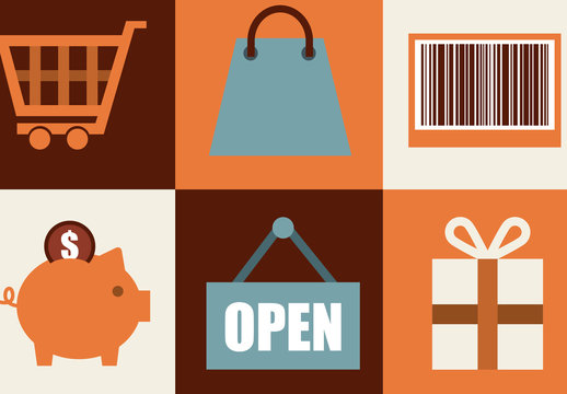 Modern and Retro Shopping Icons