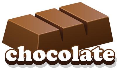 Logo design with word chocolate