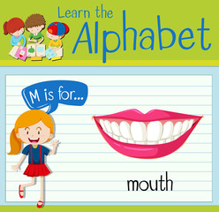 Flashcard letter M is for mouth