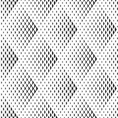 Vector seamless texture. Modern geometric background. Monochrome pattern of triangles of varying sizes.