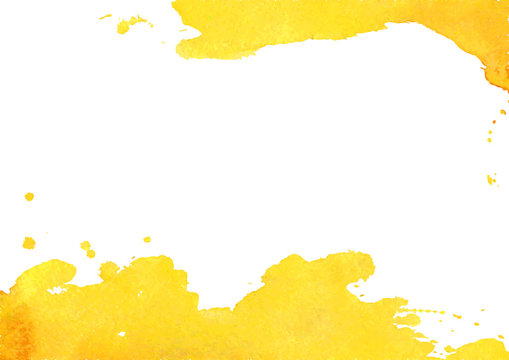 Background with yellow watercolor spot. Vector illustrator